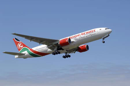 Kenya Airways provides flights