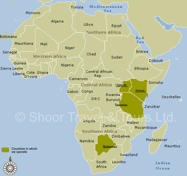 Map of Africa Africa Tourist Map