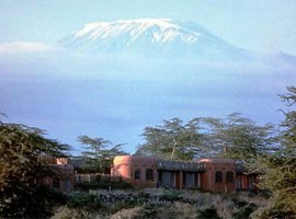 Amboseli Serena Lodge with Kilimanjaro in the background