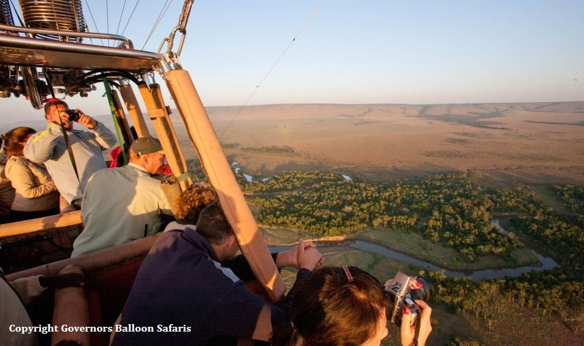 baloon flight masai mara