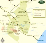Click to see a full size map of Tsavo National Park