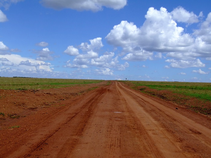 nice road in masai mara