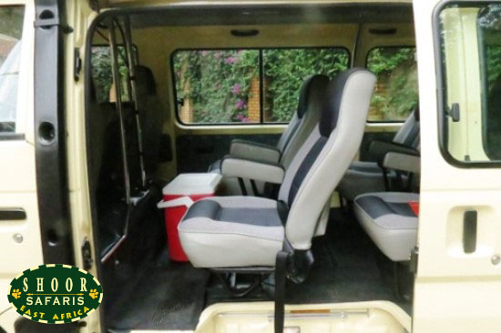 safari tour microbus inside