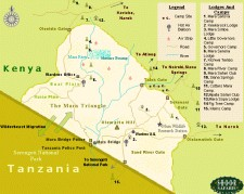 Map of Masai Mara